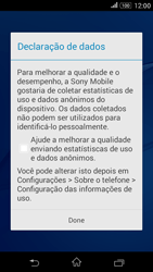 Como configurar pela primeira vez - Sony Xperia E4G - Passo 13