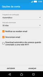 Como configurar seu celular para receber e enviar e-mails - Sony Xperia M4 Aqua - Passo 17