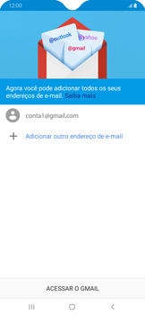 Como configurar seu celular para receber e enviar e-mails - Samsung Galaxy A20 - Passo 14