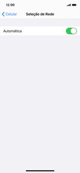 Como selecionar o tipo de rede adequada - Apple iPhone X - Passo 4