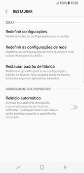 Como restaurar as configurações originais do seu aparelho - Samsung Galaxy S8 - Passo 6