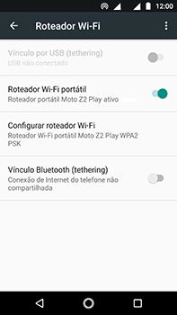 Como usar seu aparelho como um roteador de rede Wi-Fi - Motorola Moto Z2 Play - Passo 9
