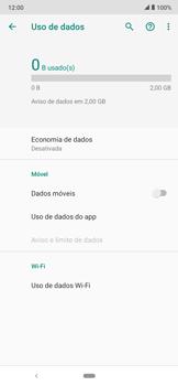 Como ativar e desativar uma rede de dados - Motorola Moto E6 Plus - Passo 6