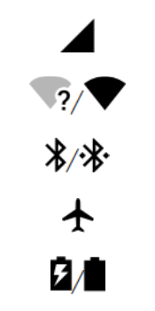 Explicação dos ícones - Motorola Moto G6 Plus - Passo 3
