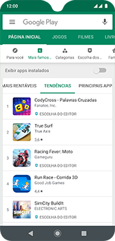 Como baixar aplicativos - Motorola Moto G7 - Passo 8