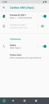 Como ativar e desativar uma rede de dados - Motorola Moto G7 Power - Passo 5