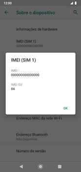 Como encontrar o número de IMEI do seu aparelho - Motorola Moto G7 Power - Passo 6