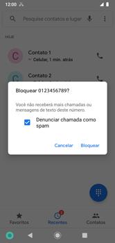 Como bloquear chamadas de um número específico - Motorola Moto G7 Power - Passo 7