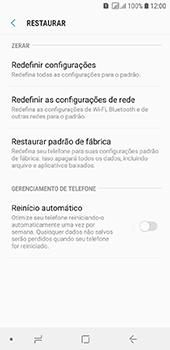 Como restaurar as configurações originais do seu aparelho - Samsung Galaxy J6 - Passo 6