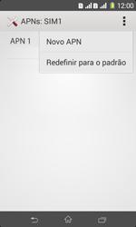 Como configurar a internet do seu aparelho (APN) - Sony Xperia E1 - Passo 9