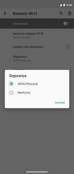 Como usar seu aparelho como um roteador de rede Wi-Fi - Motorola Moto G 5G Plus - Passo 9
