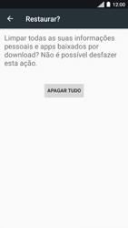 Como restaurar as configurações originais do seu aparelho - Motorola Moto C Plus - Passo 7