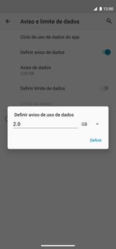 Como definir um aviso e limite de uso de dados - Motorola Moto G8 Power - Passo 10