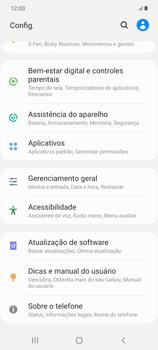 Como encontrar o número de IMEI do seu aparelho - Samsung Galaxy Note 20 5G - Passo 3