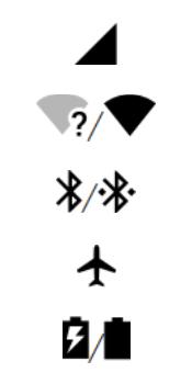 Explicação dos ícones - Motorola Moto G6 Plus - Passo 1