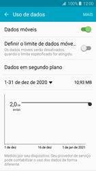 Como definir um aviso e limite de uso de dados - Samsung Galaxy J2 Duos - Passo 4