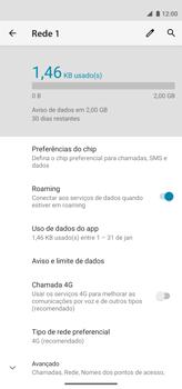 Como ativar e desativar o roaming de dados - Motorola Moto G8 Power - Passo 7