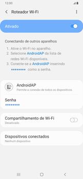 Como usar seu aparelho como um roteador de rede Wi-Fi - Samsung Galaxy A20 - Passo 11