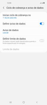 Como definir um aviso e limite de uso de dados - Samsung Galaxy A21s - Passo 6