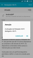 Como usar seu aparelho como um roteador de rede Wi-Fi - Samsung Galaxy S6 - Passo 10