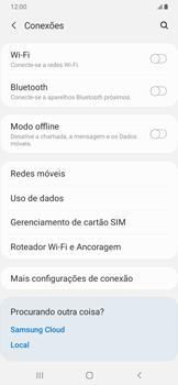Como ativar e desativar uma rede de dados - Samsung Galaxy A20 - Passo 4