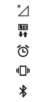 Explicação dos ícones - LG K62 - Passo 1