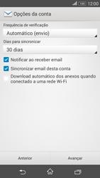 Como configurar seu celular para receber e enviar e-mails - Sony Xperia E4G - Passo 16