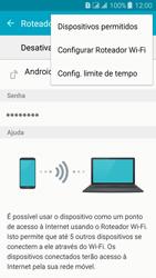 Como usar seu aparelho como um roteador de rede Wi-Fi - Samsung Galaxy J3 Duos - Passo 6