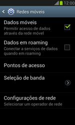 Como ativar e desativar uma rede de dados - Samsung Galaxy S III Mini - Passo 5