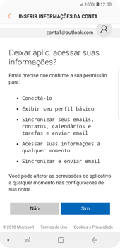 Como configurar seu celular para receber e enviar e-mails - Samsung Galaxy S9 - Passo 7