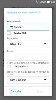 Como usar seu aparelho como um roteador de rede Wi-Fi - Asus Zenfone Selfie - Passo 5