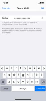 Como usar seu aparelho como um roteador de rede Wi-Fi - Apple iPhone X - Passo 4