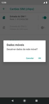 Como ativar e desativar uma rede de dados - Motorola Moto G7 Play - Passo 6
