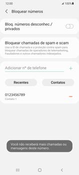 Como bloquear chamadas de um número específico - Samsung Galaxy S21+ 5G - Passo 11