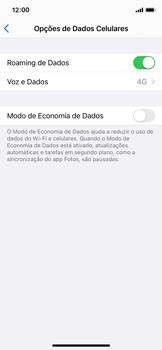 Como ativar e desativar o roaming de dados - Apple iPhone 11 Pro - Passo 5