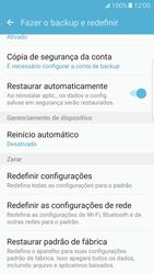 Como restaurar as configurações originais do seu aparelho - Samsung Galaxy S7 Edge - Passo 5
