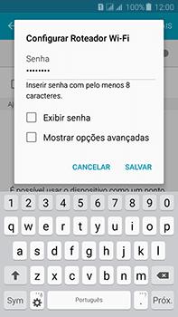 Como usar seu aparelho como um roteador de rede Wi-Fi - Samsung Galaxy J7 - Passo 8