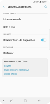 Como restaurar as configurações originais do seu aparelho - Samsung Galaxy S9 - Passo 5