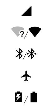 Explicação dos ícones - Motorola One - Passo 1