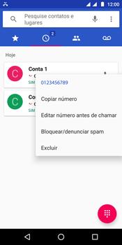 Como bloquear chamadas de um número específico - Motorola Moto E5 - Passo 5