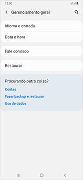 Como restaurar as configurações originais do seu aparelho - Samsung Galaxy A50 - Passo 5