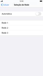 Como selecionar o tipo de rede adequada - Apple iPhone 8 - Passo 5