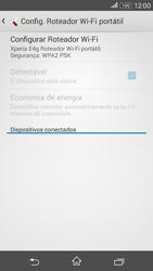 Como usar seu aparelho como um roteador de rede Wi-Fi - Sony Xperia E4G - Passo 6