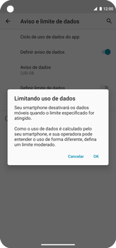 Como definir um aviso e limite de uso de dados - Motorola Moto G8 Power - Passo 12