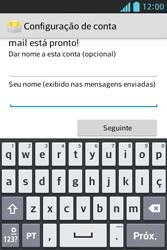 Como configurar seu celular para receber e enviar e-mails - LG Optimus L5 - Passo 19