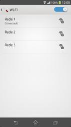 Como configurar uma rede Wi-Fi - Sony Xperia SP - Passo 7