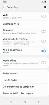 Como ativar e desativar o roaming de dados - Samsung Galaxy A50 - Passo 4