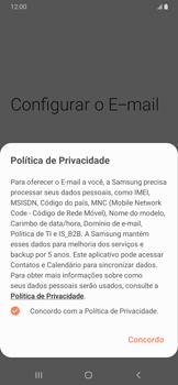 Como configurar seu celular para receber e enviar e-mails - Samsung Galaxy A20 - Passo 10
