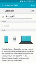 Como usar seu aparelho como um roteador de rede Wi-Fi - Samsung Galaxy J3 Duos - Passo 9