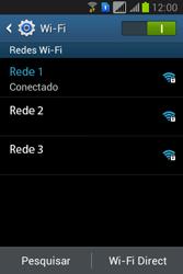 Como configurar uma rede Wi-Fi - Samsung Galaxy Young - Passo 7